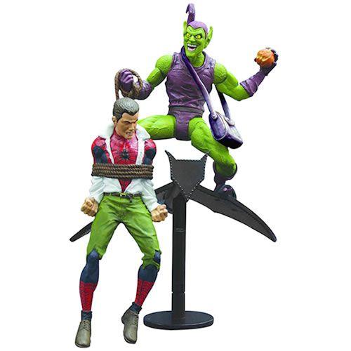 Action Figure Clássico Duende Verde Vs. Homem Aranha (Classic Green Goblin Vs Spiderman) Marvel Select - Diamond Select