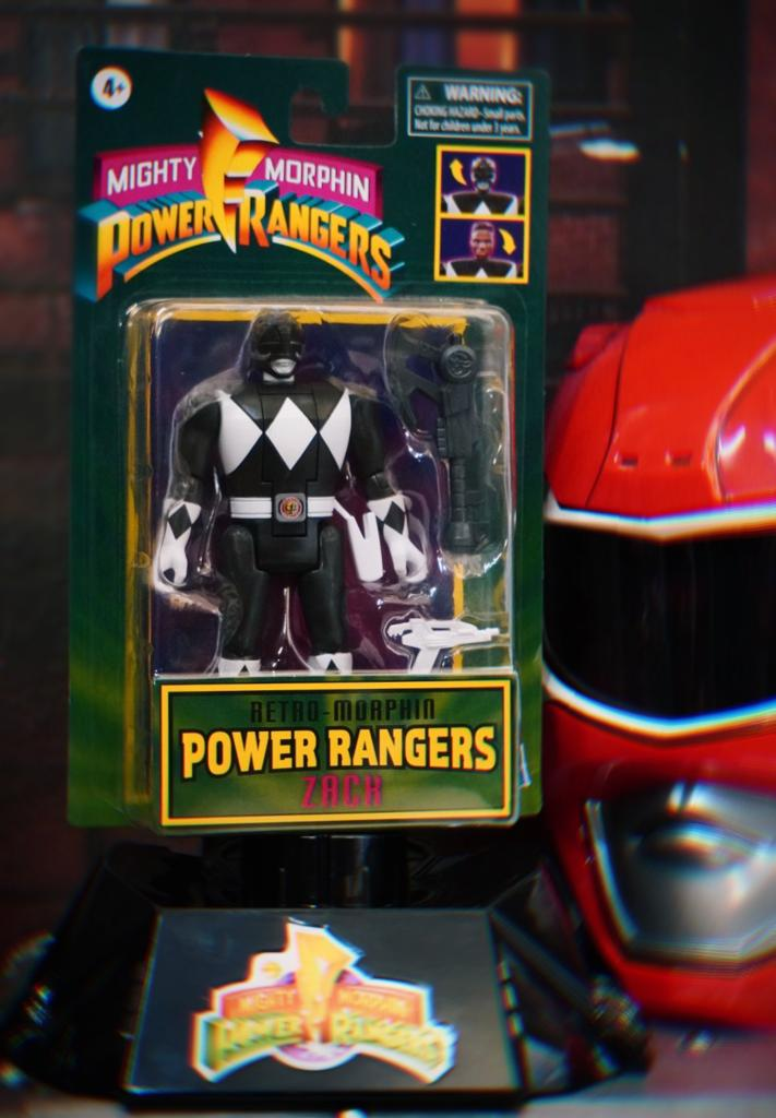 Boneco Colecionável Action Figure Ranger Preto Black Zack: Mighty Morphin Power Rangers Vira Cabeça Retro - Hasbro