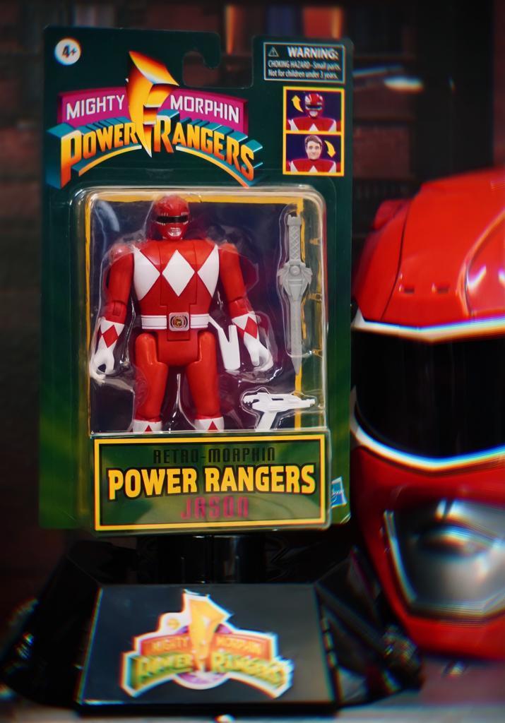 Boneco Colecionável Action Figure Ranger Vermelho Red Jason: Mighty Morphin Power Rangers Vira Cabeça Retro - Hasbro
