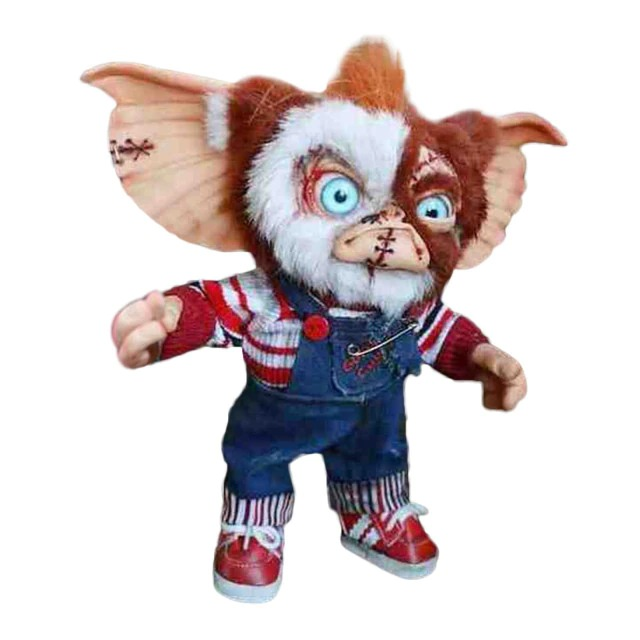 Boneco Colecionável Gizmo Chucky: Gremlins e Brinquedo Assassino Decoração de Dias Das Bruxas Halloween - MKP