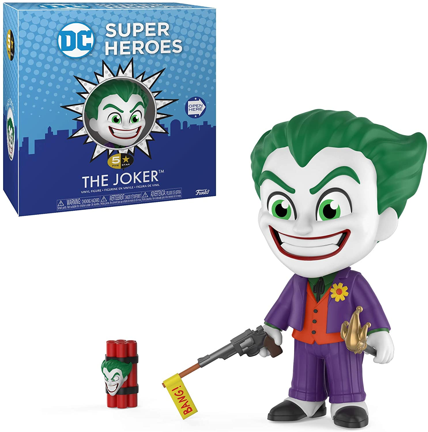 Funko Boneco Coringa (The Joker): Dc Comics Super Heroes (5 Star) - Funko