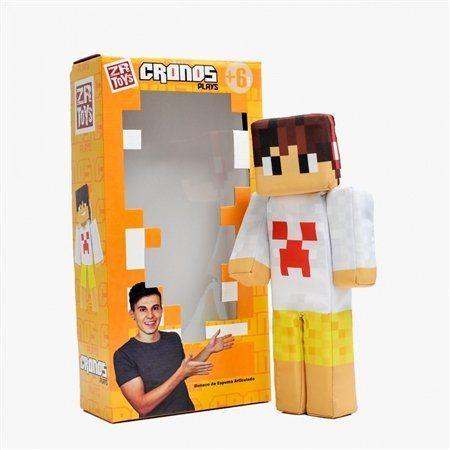 Boneco Cronos Plays: Minecraft - ZR Toys