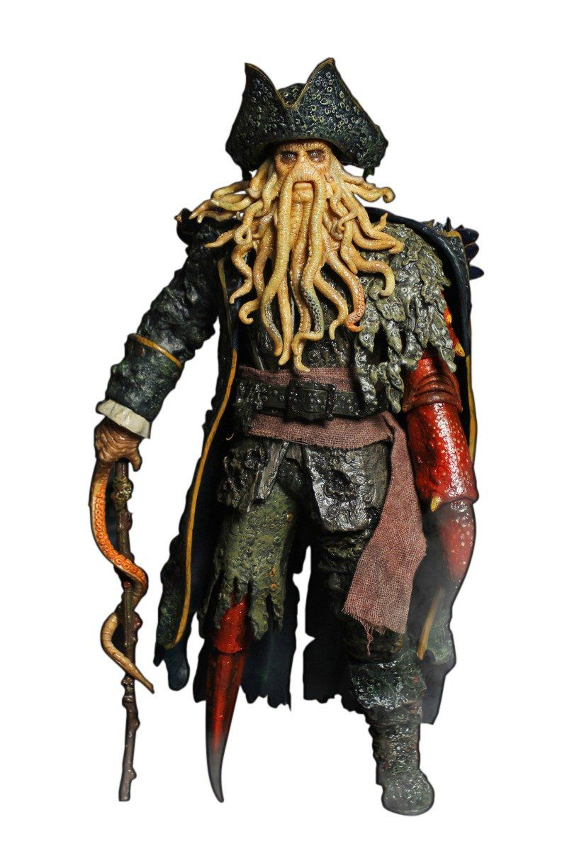 Action Figure Davy Jones: Piratas do Caribe O Baú da Morte (Pirates of the Caribbean: Dead Man's Chest) Escala 1/6 - XD Toys