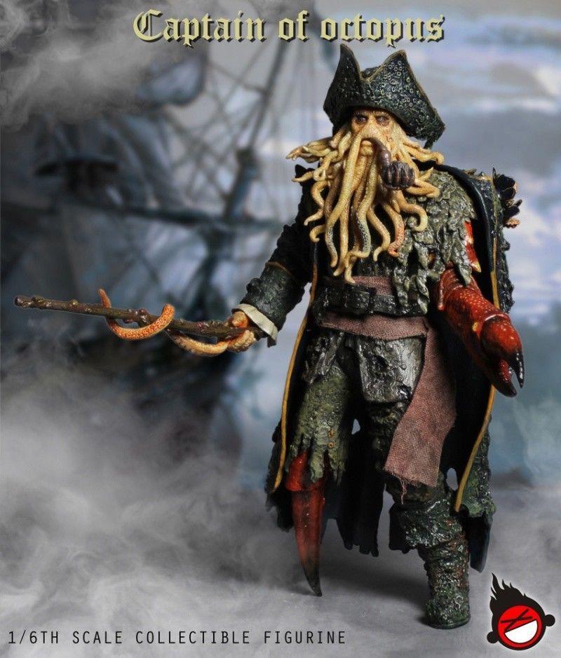 Action Figure Davy Jones: Piratas do Caribe O Baú da Morte (Pirates of the Caribbean: Dead Man's Chest) Escala 1/6 - XD Toys