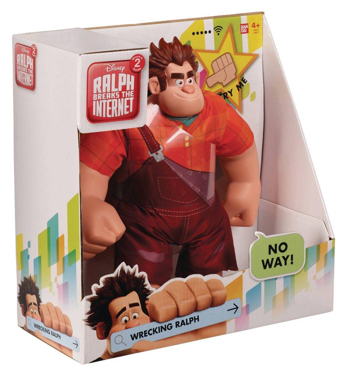 Boneco Detona Ralph (Wreck It Ralph): WiFi Ralph Quebrando a Internet (Ralph Breaks the Internet) Som e Movimento - Disney
