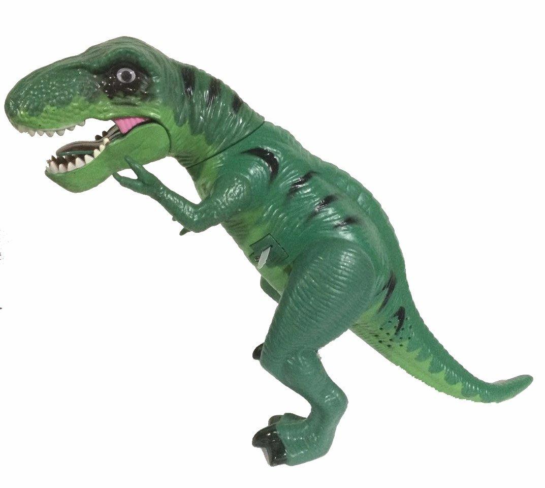 Boneco Dinossauro: Tiranossauro Rex com Luz e Som - Verde