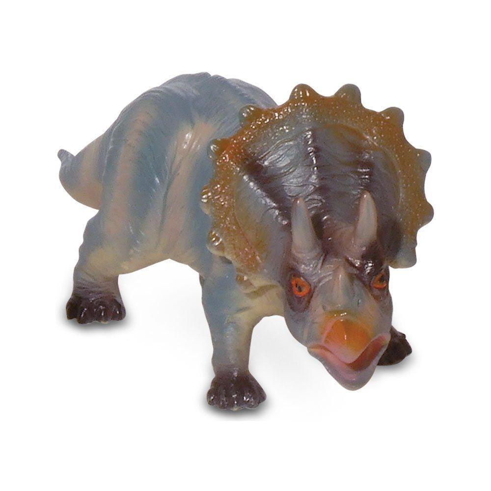 Boneco Dinossauro Triceratops: Bicho Mundi - DTC