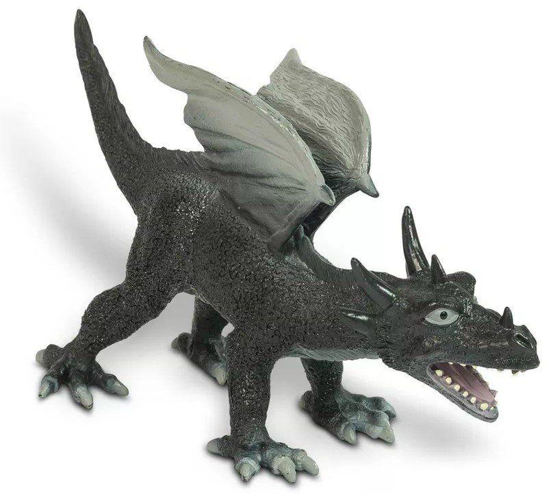 Boneco Dragão (Preto de Asa): Bicho Mundi - DTC