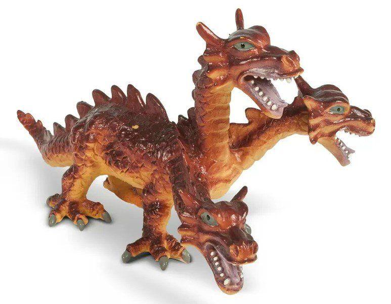 Boneco Dragão (Três Cabeças): Bicho Mundi - DTC