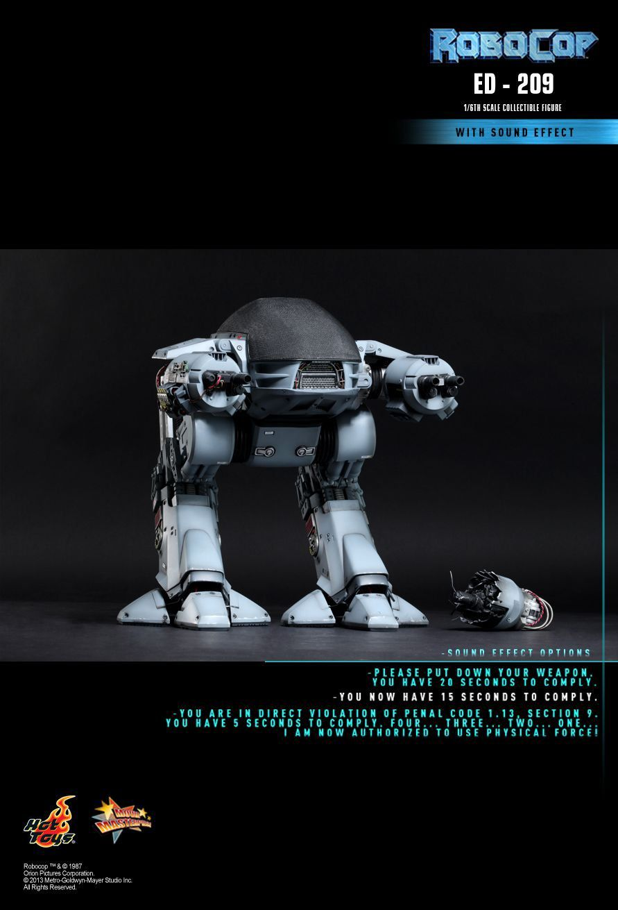 Action Figure ED-209: Robocop (MMS204) Escala 1/6 - Hot Toys