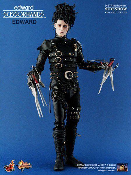 Boneco Edward Scissorhands Mãos de Tesoura Escala 1/6 - Hot Toys