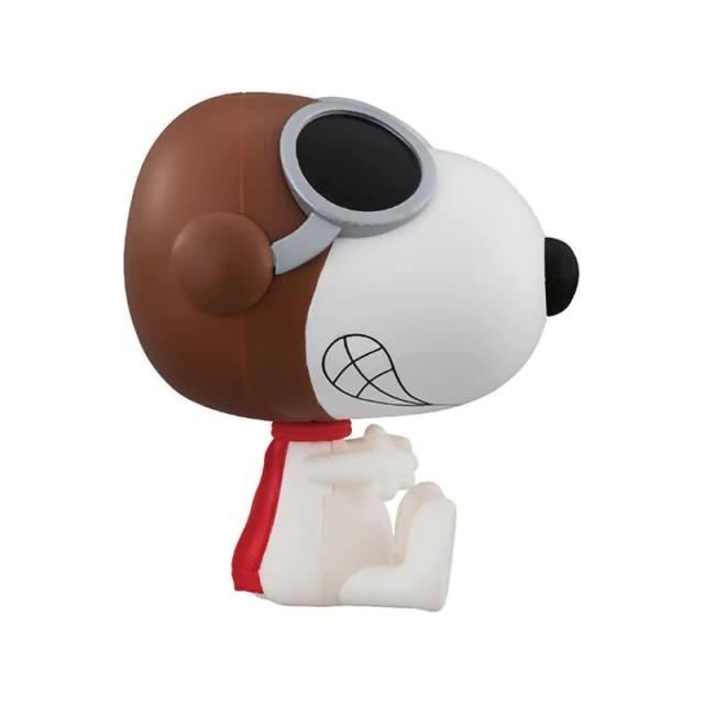 Boneco Estátua Colecionável Snoopy e Ás dos Ares Flying Ace: Charlie Brown Peanuts - MKP