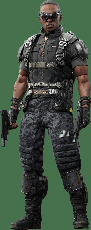Action Figure Falcão (Falcon): Capitão América Soldado Invernal  (The Winter Soldier) (MMS245) Escala 1/6 Boneco Colecionável - Hot Toys