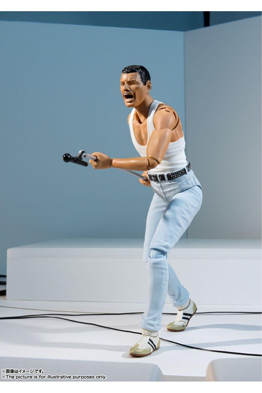 Boneco Freddie Mercury - Live Aid Version S.H. Figuarts - Bandai