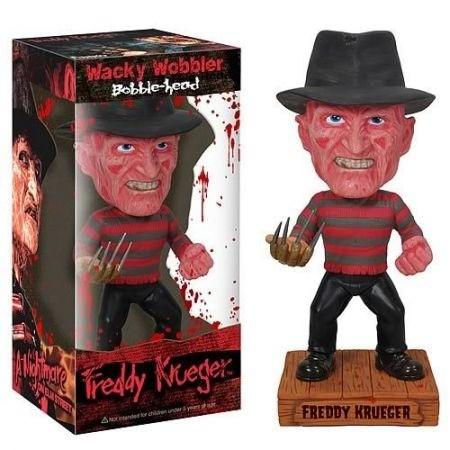 Funko Boneco Freddy Krueger Bobble Head Wacky Woobler - Funko
