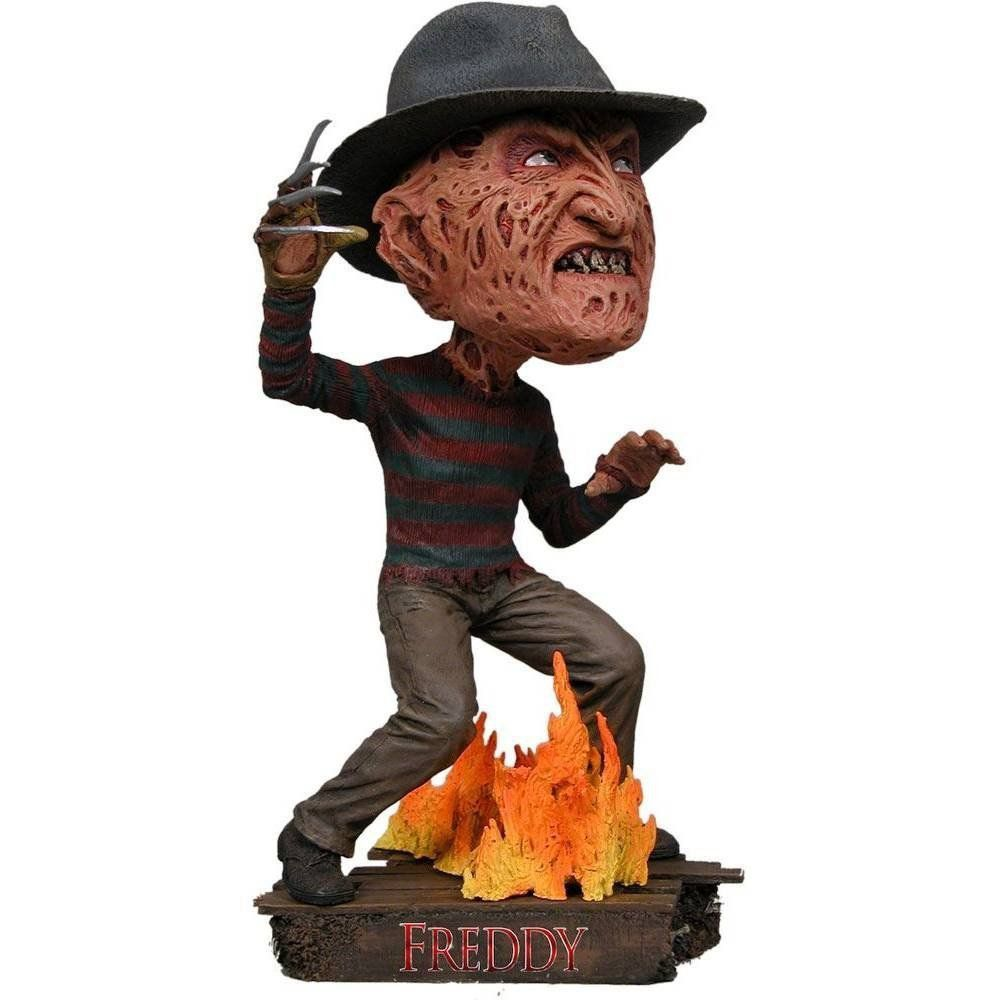 Boneco Freddy Krueger: Freddy Vs Jason Head Knockers Bobble Head - NECA