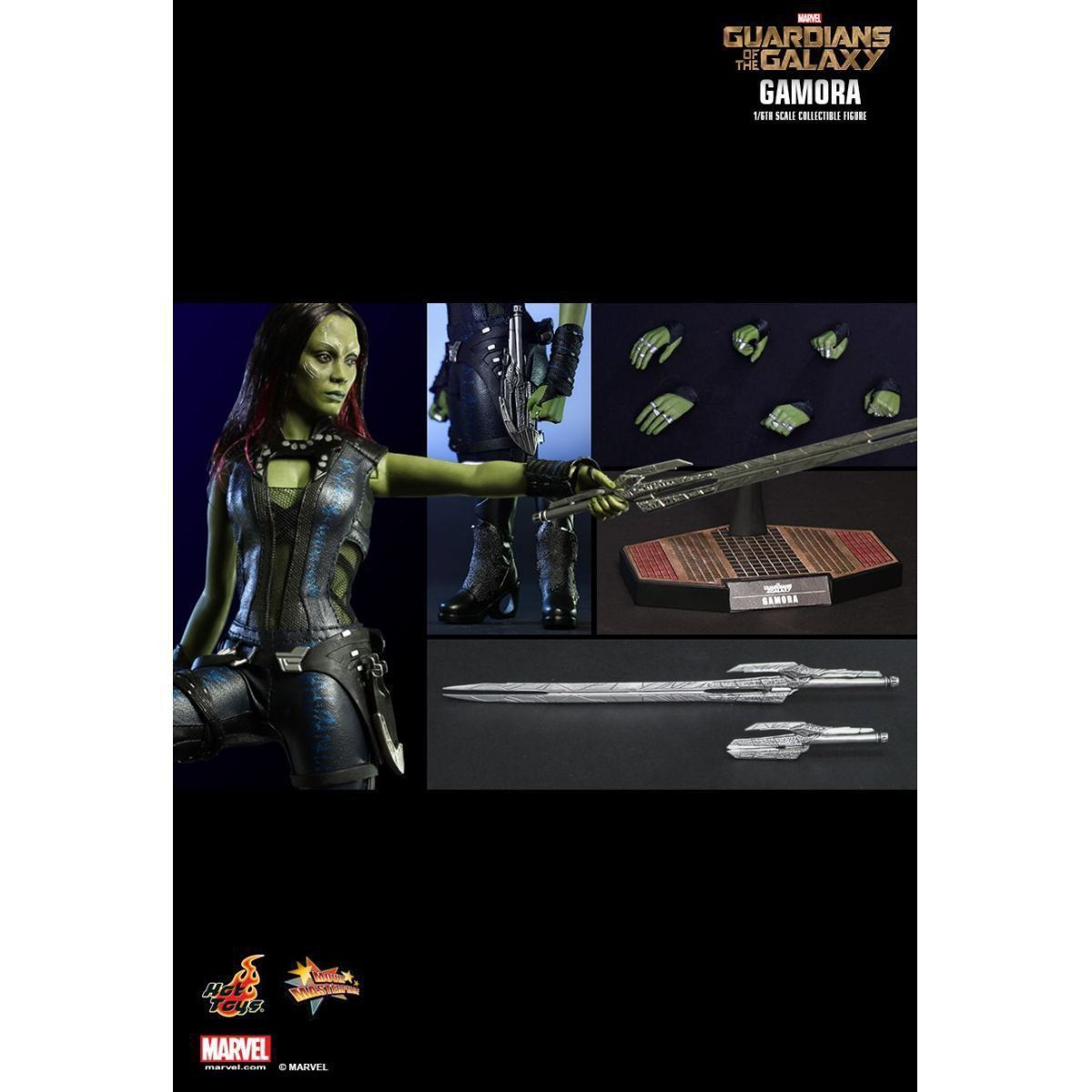Boneco Gamora: Guardiões da Galáxia (Guardians of the Galaxy) Escala 1/6 (MMS259) - Hot Toys - CG