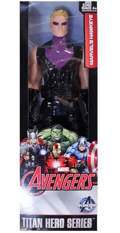 Boneco Gavião Arqueiro (Hawkeye) (Titan Hero Series): Vingadores (Avengers) - Hasbro