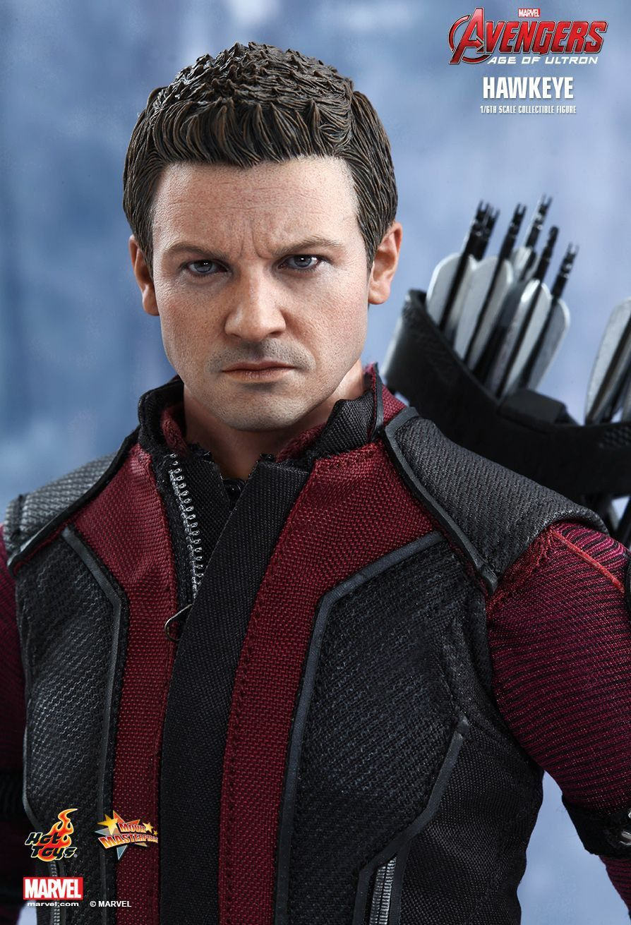 Boneco Gavião Arqueiro (Hawkeye): Vingadores Era de Ultron (Avengers Age of Ultron) Escala 1/6 (MMS289) - Hot Toys