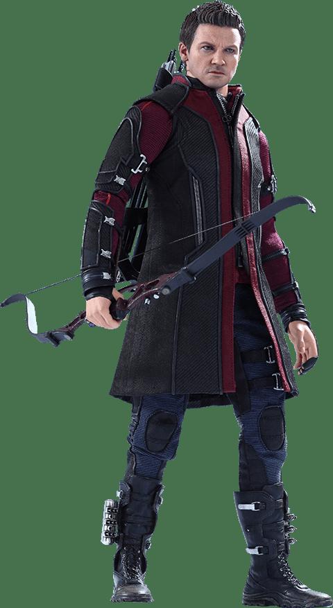 Boneco Gavião Arqueiro (Hawkeye): Vingadores Era de Ultron (Avengers Age of Ultron) Escala 1/6 (MMS289) - Hot Toys (Apenas Venda Online)