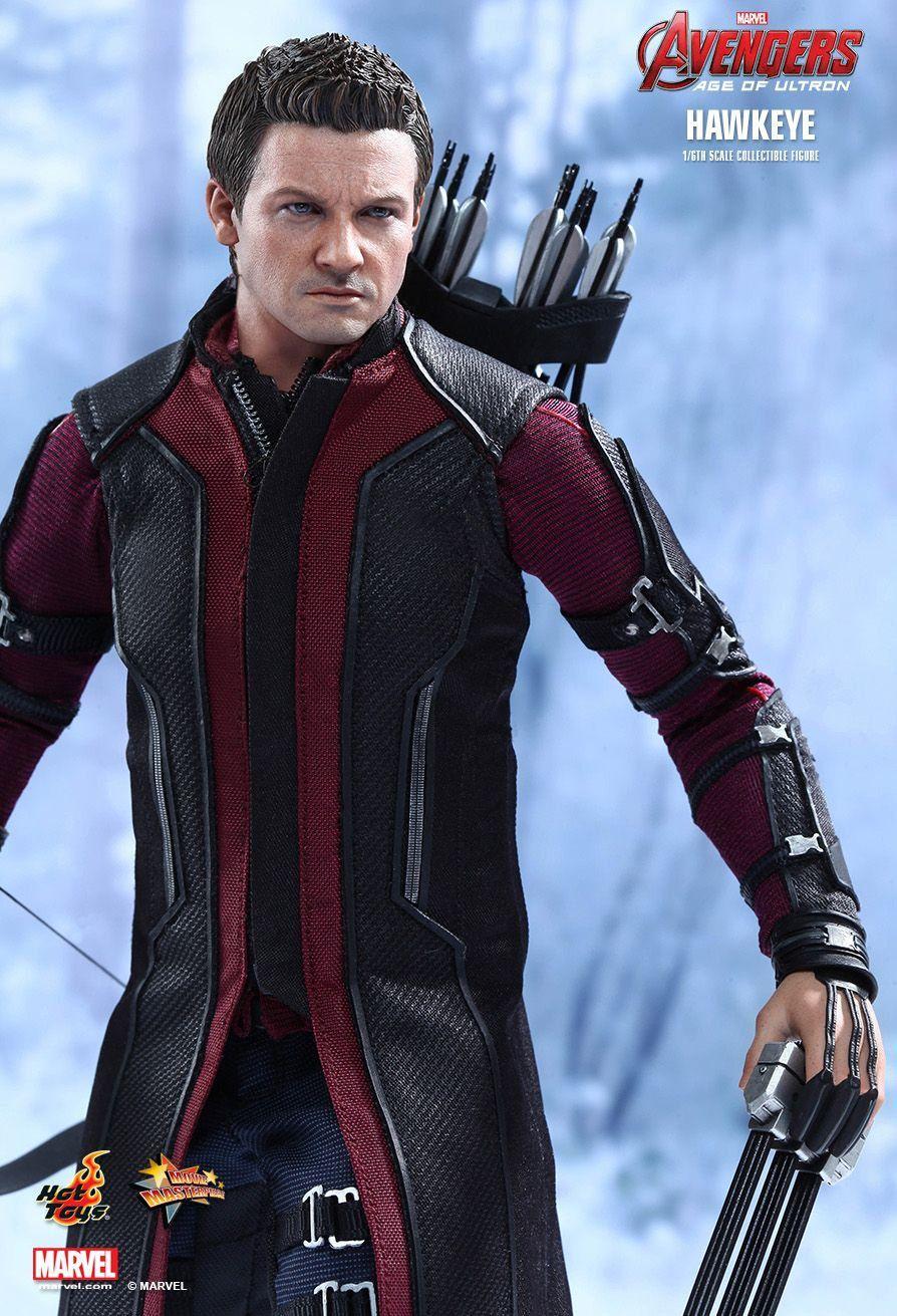 Action Figure Gavião Arqueiro (Hawkeye): Vingadores Era de Ultron (Avengers Age of Ultron) Escala 1/6 (MMS289) - (USADO E SEM CAIXA) - Hot Toys