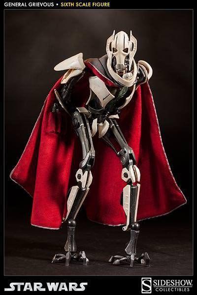 Action Figure General Grievous: Star Wars A Vingança dos Sith (Revenge of the Sith) Escala 1/6 - Sideshow