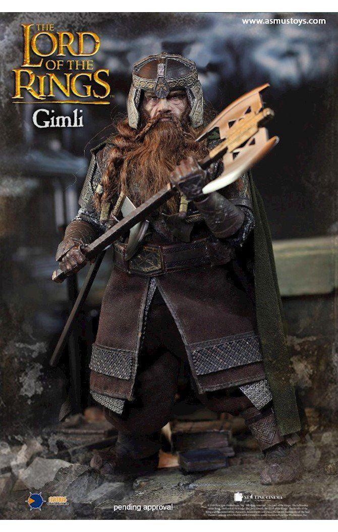 Action Figure Anão Gimli: O Senhor dos Anéis The Lord of the Rings Escala 1/6 - Asmus Toys
