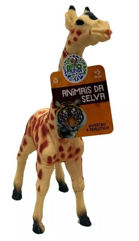 Boneco Girafa: Animais da Selva (Bicho Mundi) - DTC