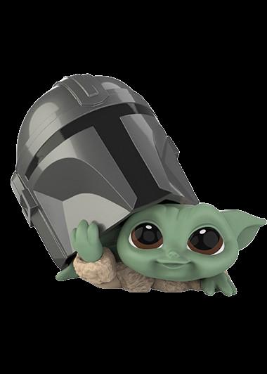 "PRÉ VENDA: Boneco Grogu ""Baby Yoda"" ""Helmet Peeking"" (The Child): The Mandalorian (Star Wars) Serie 3 - Hasbro"