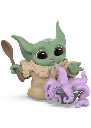 "PRÉ VENDA: Boneco Grogu ""Baby Yoda"" ""Tentacle Soup Surprise"" (The Child): The Mandalorian (Star Wars) Serie 3 - Hasbro"