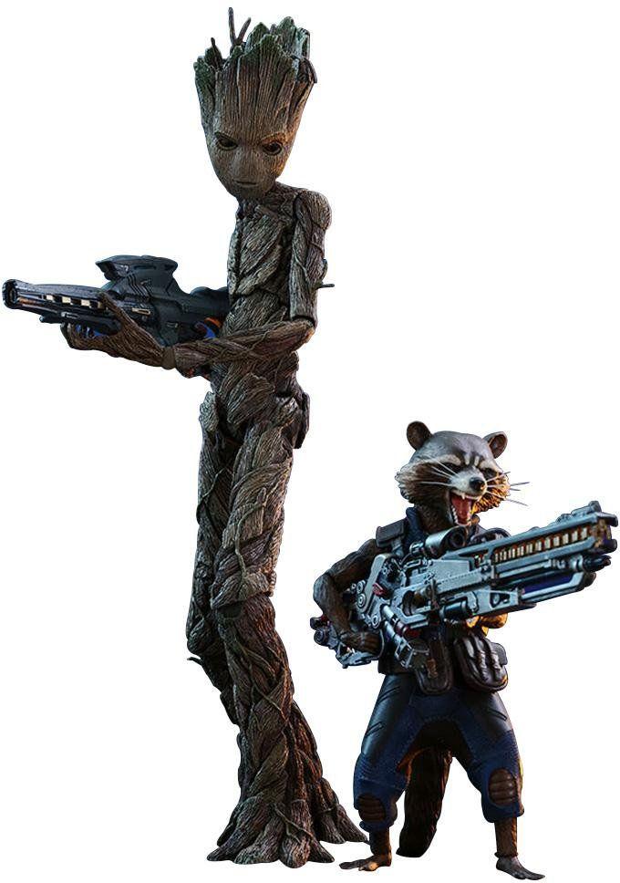 PRÉ VENDA: Boneco Groot e Rocket Raccoon: Guerra Infinita (Infinity War) Escala 1/6 (MMS476) - Hot Toys