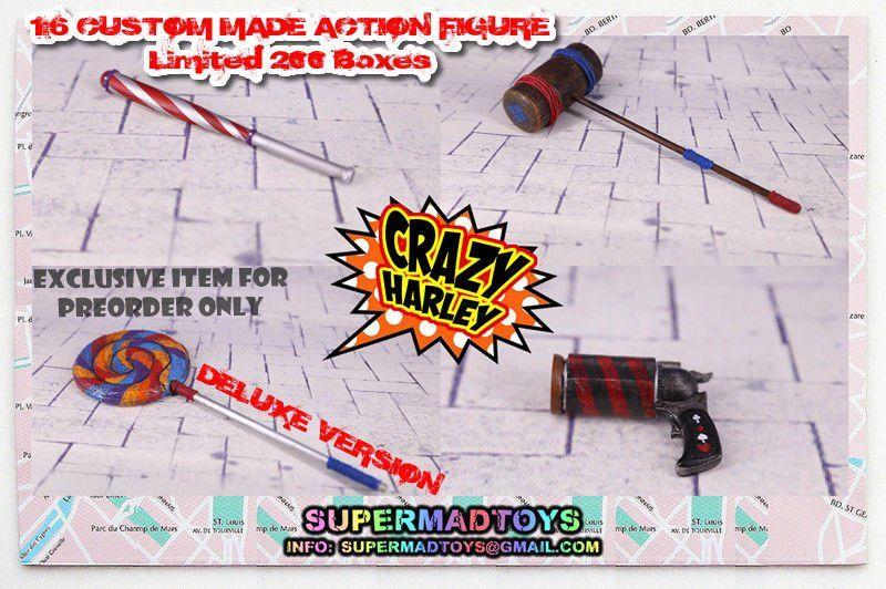 Boneco Harley Quinn: Crazy Harley Suicide Squad (Esquadrão Suicida) Deluxe Version - Supermad Toys