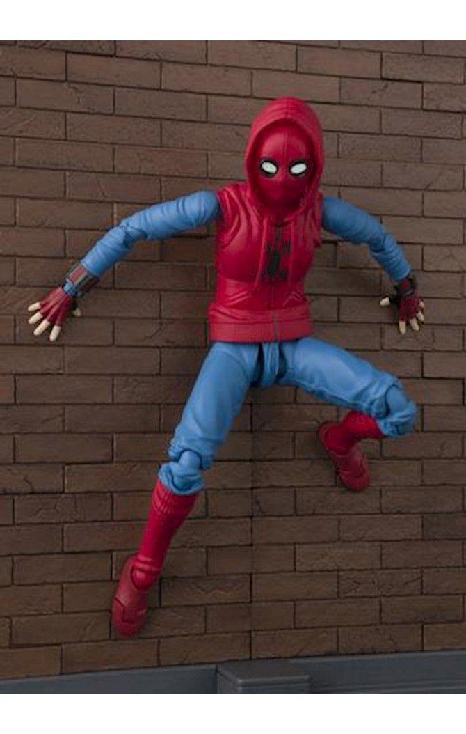 Action Figure Homem-Aranha Spider-Man Home Made Suit: Homem-Aranha De Volta Ao Lar Homecoming S.H.Figuarts - Bandai