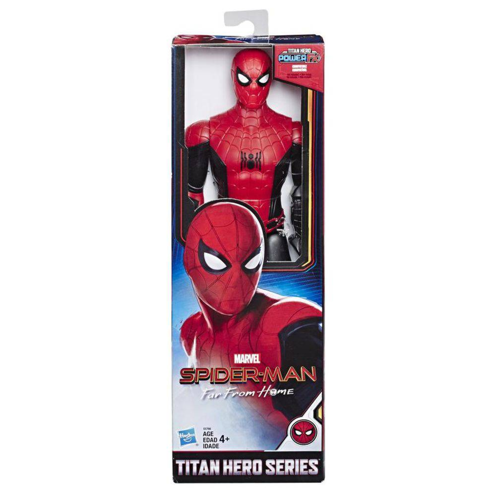 Boneco Homem-Aranha (Spider-Man) (Titan Hero Series): Homem-Aranha Longe de Casa (Far From Home) - Hasbro