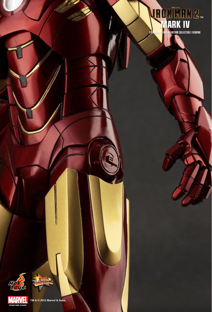 Boneco Homem de Ferro (Iron Man) Mark IV: Homem de Ferro 2 (Iron Man 2) Escala 1/6 (MMS123) - Hot Toys - CG
