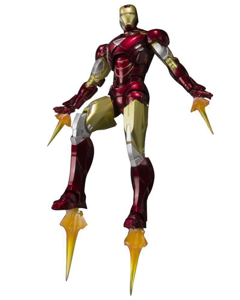 Boneco Homem de Ferro (Iron Man) Mark VI e Expositor de Armadura (Hall of Armor Set): S.H.Figuarts - Bandai - CD