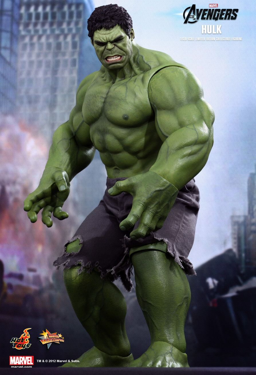 Action Figure Hulk: Os Vingadores (The Avengers) Boneco Colecionável Escala 1/6 (MMS186) - Hot Toys