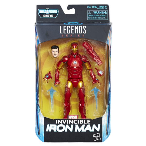 Boneco: Invencível Homem De Ferro (Invencible Iron Man) : Marvel Legends Series - Hasbro
