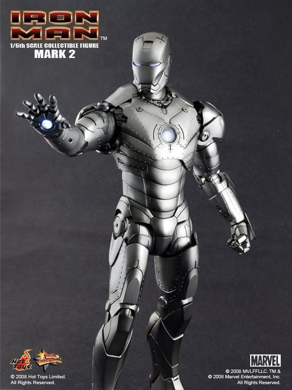 Action Figure Iron Man (Homem de Ferro) Mark II Escala 1/6 - Hot Toys