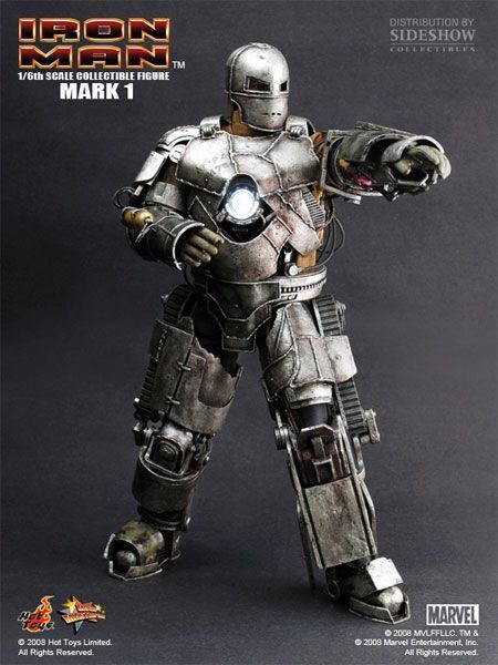 Action Figure Homem de Ferro Iron Man Mark I - Hot Toys