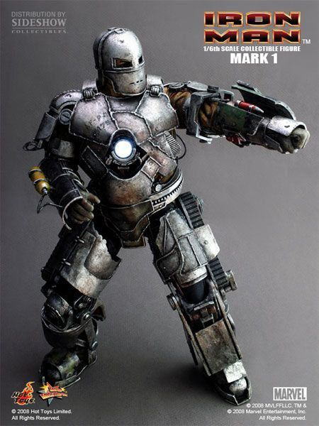 Boneco Iron Man Mark I - Hot Toys