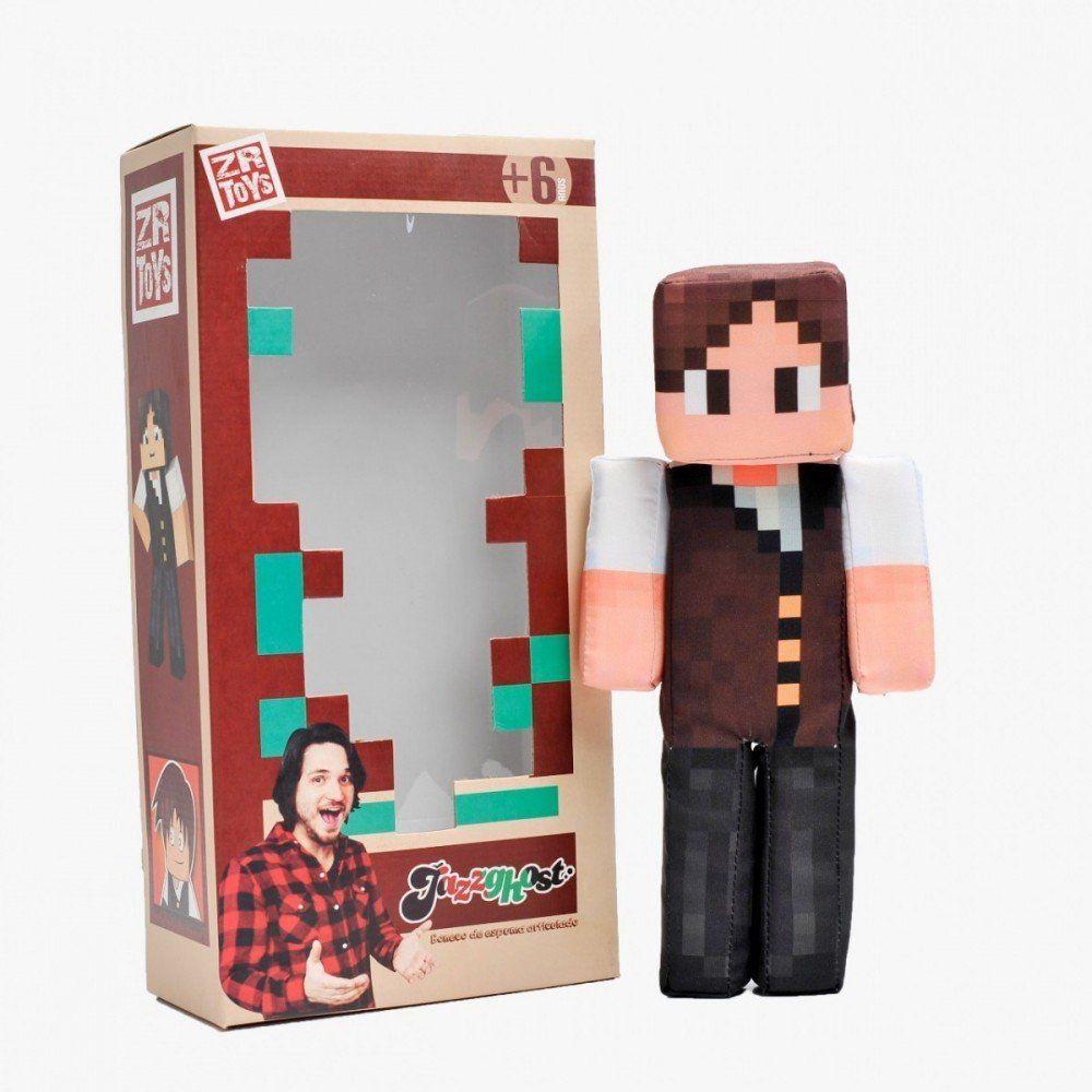 Boneco Jazz Ghost: Minecraft - ZR Toys