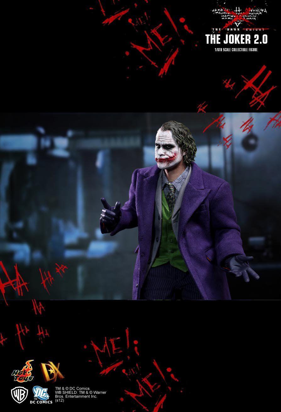 Action Figure Joker 2.0 (Coringa): Batman The Dark Knight (DX11) Escala 1/6 - Hot Toys