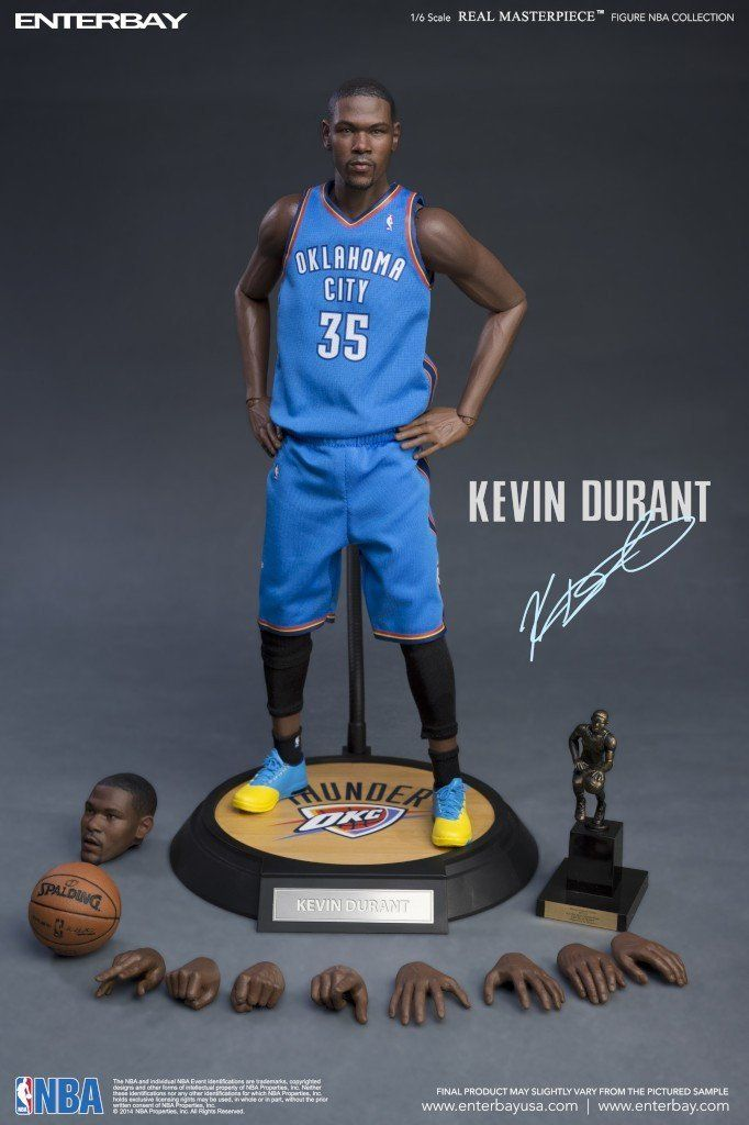 Boneco Kevin Durant: NBA Oklahoma City Thunder (Escala 1/6) - Enterbay
