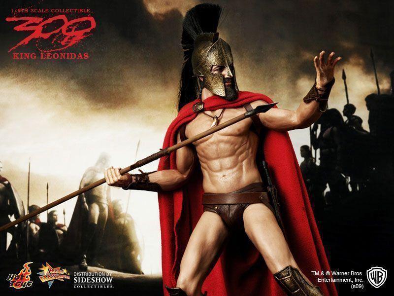 Action Figure Rei Leónidas (King Leónidas): 300 (Escala 1/6) MMS114 - Hot Toys
