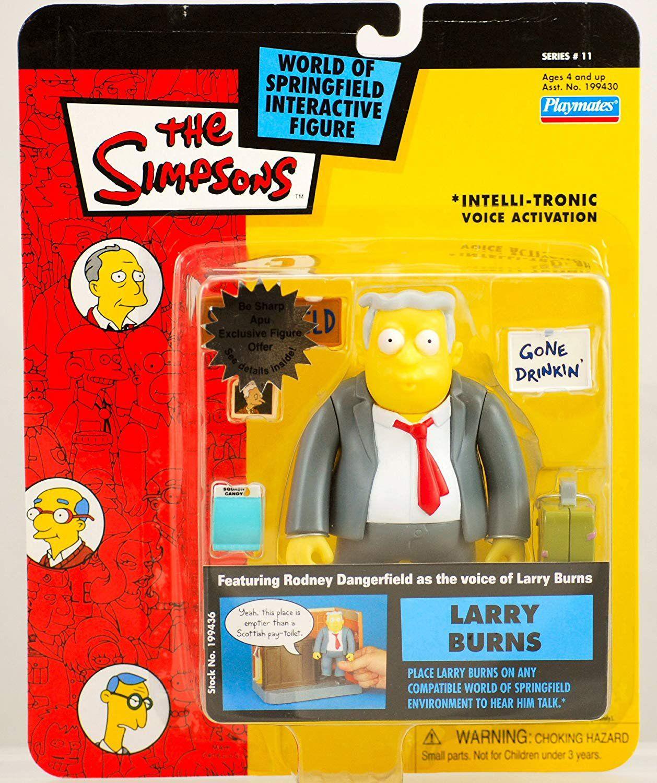 Boneco Larry Burns (World Of Springfield Interactive Figure): Os Simpsons (The Simpsons) - PlayMates - CG