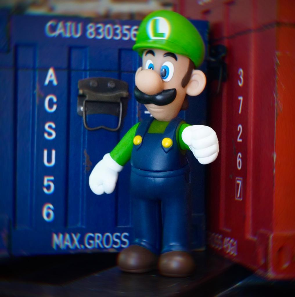 Boneco Luigi: Super Mario Bros World (20Cm) - EV