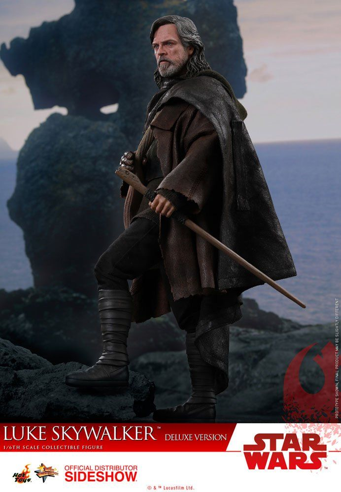 Action Figure Luke Skywalker: Star Wars: Os Ultimos Jedi (The Last Jedi) Escala 1/6 Boneco Colecionável (MMS458) - Hot Toys - CDL