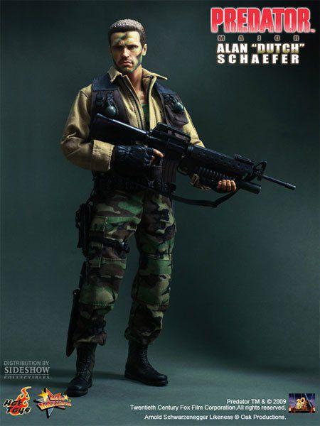 Boneco Major Alan 'Dutch' Schaefer: Predador (Predator) Escala 1/6 (MMS72) - Hot Toys - CG