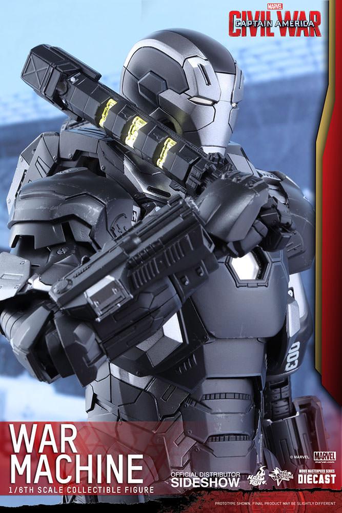 Boneco Máquina de Combate (War Machine): Guerra Civil Escala 1/6 - Hot Toys